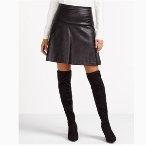 Reitman faux leather skirt